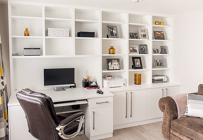 built in office furniture fitted home study furniture 12672