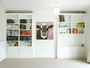 Double boockase alcove cupboards in alcoves