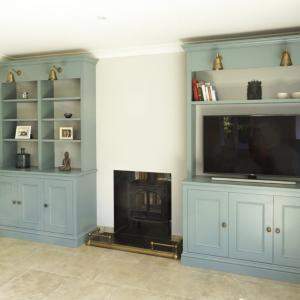 Pair of built in Victorian alcove cupboards are finished in F&B Oval room with traditional features