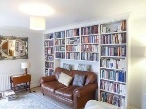 Built in bookcase in living room