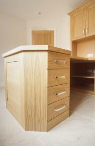 Custom made fitted home office drawers