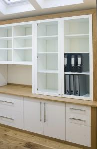 built in home office cabinets