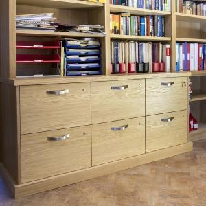 Fitted home office filing drawers with locks