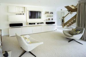 Contemporary TV wall units in Living room