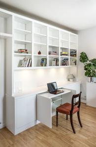 built in bookshelves home office