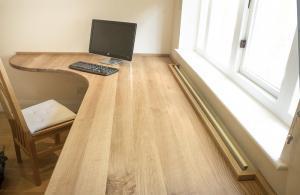Home office desk in solid Oak