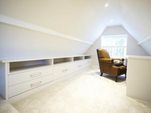 Modern built in home office in loft