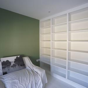 bookcases fitted in bedroom