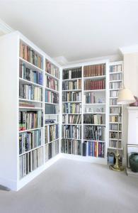built in bookcases corner
