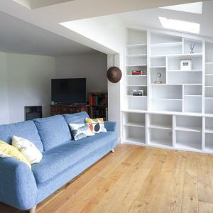 built in bookcases living room