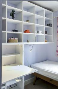 built in bookcases with home office desk for small rooms
