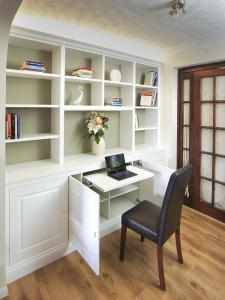 Built in Home office in Cupboards with pullout desk