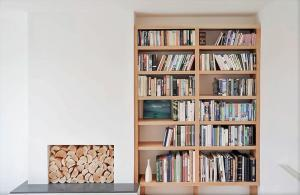 contemporary Fitted Bookcase with chunky shelves