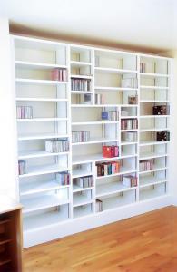 Contemporary bookcases in white