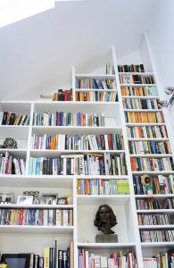 custom made floor to ceiling bookcase in a contemporary style 3