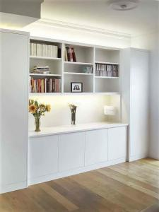 Lounge built in furniture with lighting and bookcases