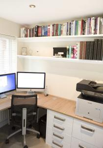 small built in home office