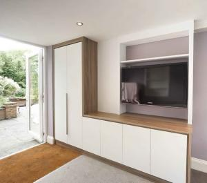 Built in TV wall unit with cupboards