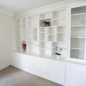 Built in cupboards lounge