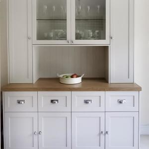 Fitted cupboards in kitchen