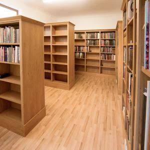 Home Library in Oak for lots of books