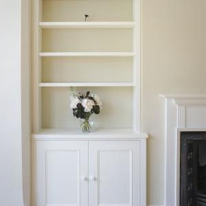 Alcove built in cupboards