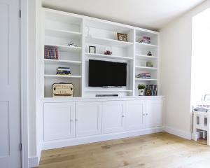 built in TV media center cabinets