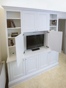 built in media center cabinets