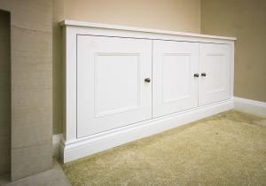 fitted cupboards in alcoves