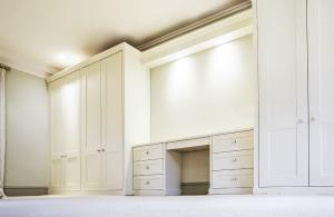 Built in bedroom furniture with dressing Table