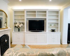 Living room Break front built in furniture