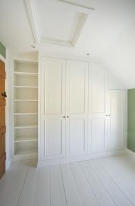 built in victorian wardrobes in a bedroom