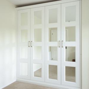 wardrobe with mirror doors