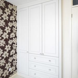 fitted alcove Wardrobe with door beading