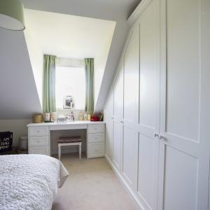 modern fitted wardrobe in bedroom