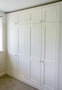 Fitted victorian wardrobes in an alcove