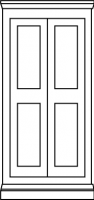 2 equal panel door style