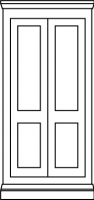 2 panel traditional door style