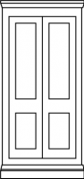 2 panel Traditional shaker door with wide midrail