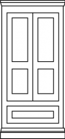 Two panel traditional door with Drawer