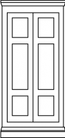 3 panel colonial door style