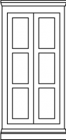 3 equal panel door style