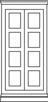 4 equal panel door style
