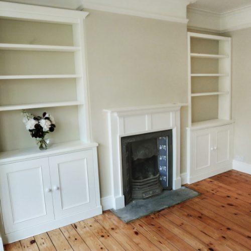 Victorian alcove cabinets
