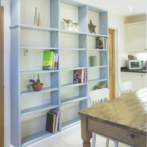 Built in bookcases in a kitchen