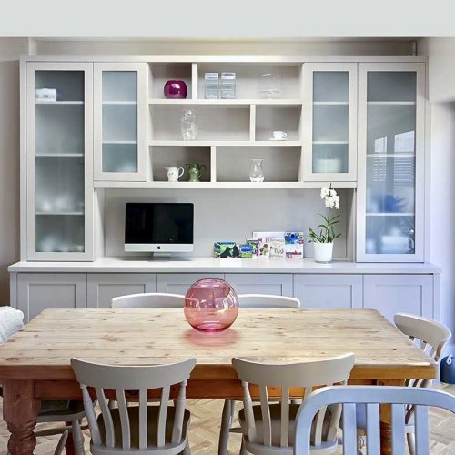 Built in cabients in dining room