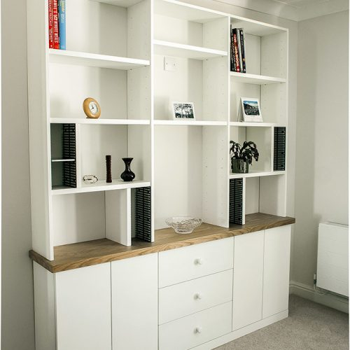 Built in cupboards and shelves modern look