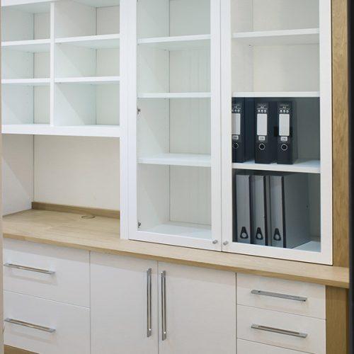 Built in cupboards - office