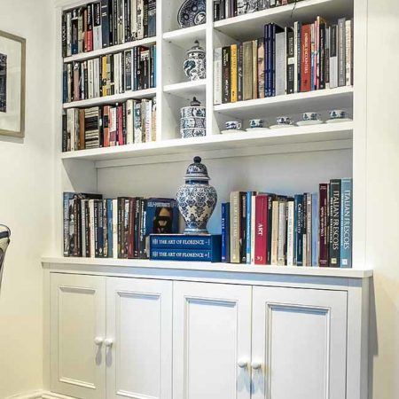 Fitted cabinets and shelving in Ornate design