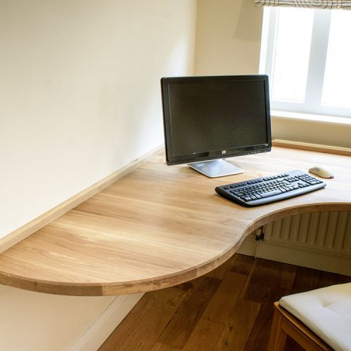 fitted home office furniture with Solid Oak desk